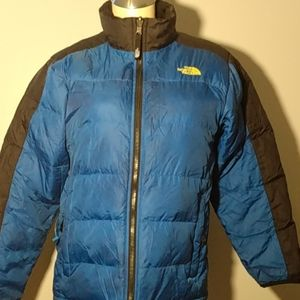 The North Face 550 blue Puffer jacket boys 14/16